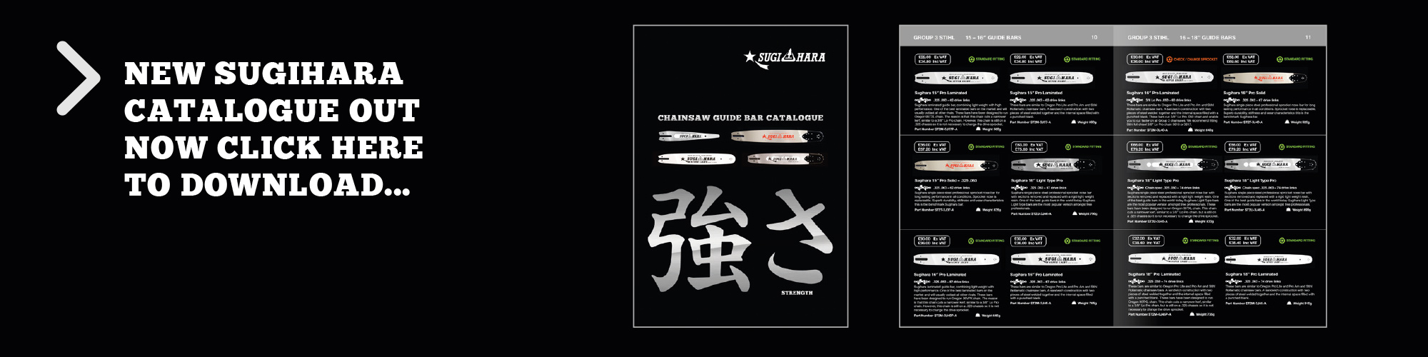 Sugihara chainsaw Guide bar Catalogue